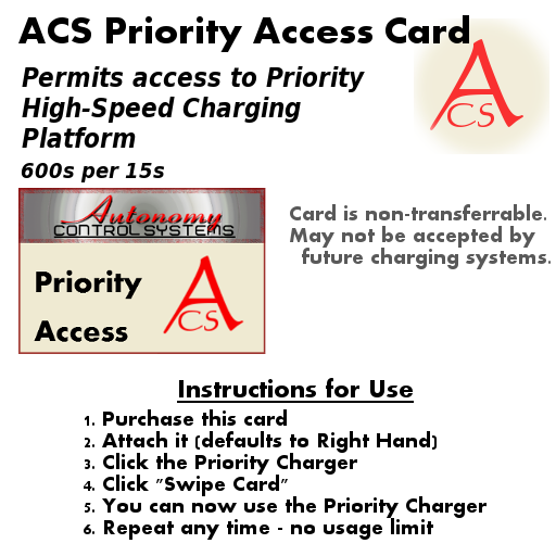 Priority Access Card