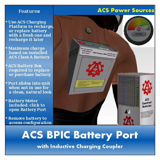 ACS Battery Port (with Inductive Charging Coupler)